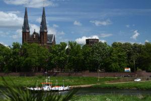 Het kloosterdorp Steyl aan de Maas, in Noord-Limburg. Foto Sybylle Kroon