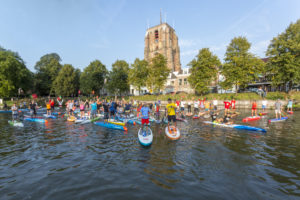 Start Sup-Elfstedentocht in Leeuwarden. Foto Mayola Dijksman