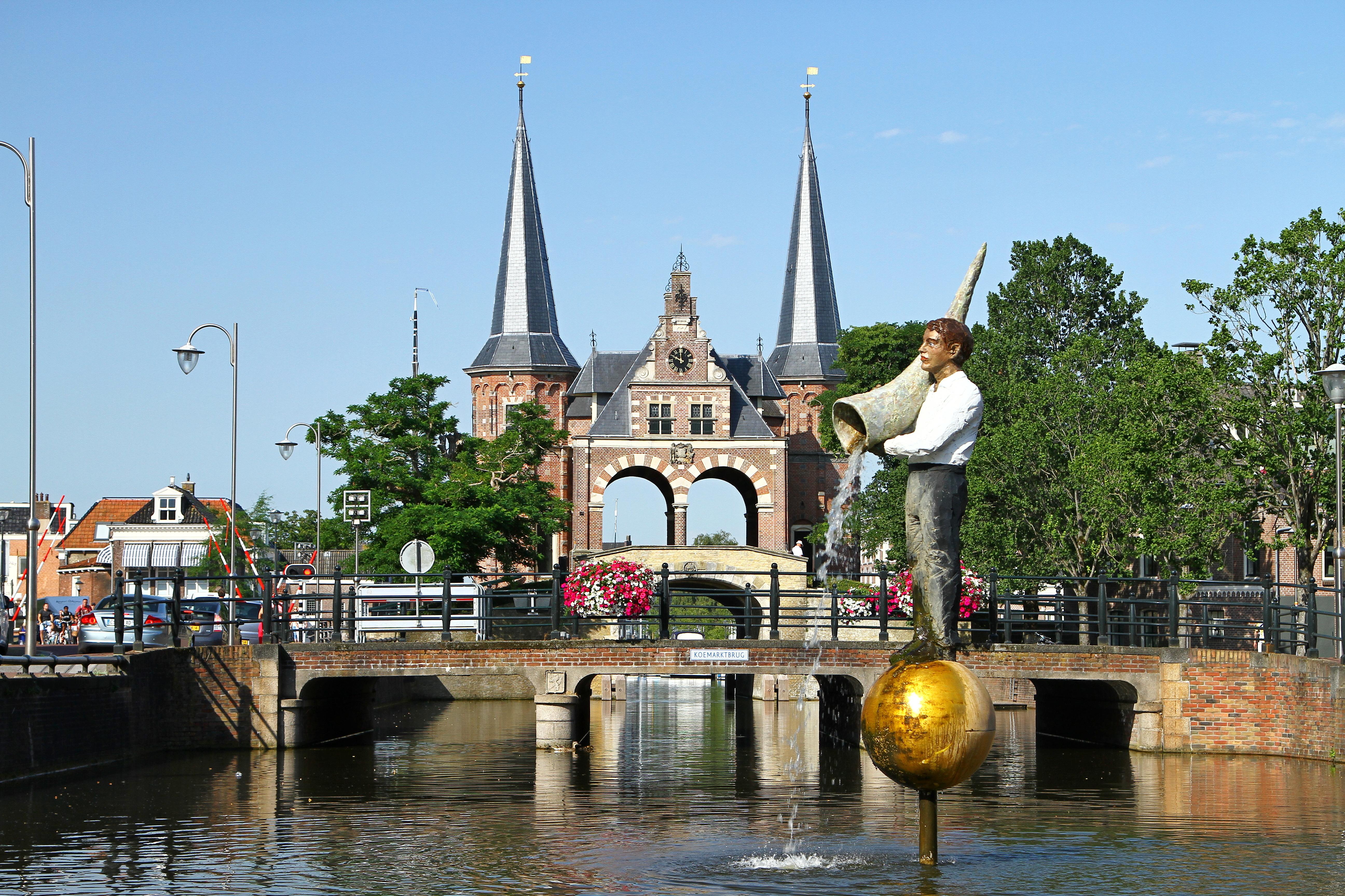 Elfstedentocht fonteinen Friesland Fontein Sneek foto Sybylle Kroon